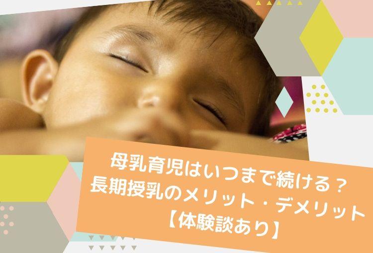 母乳育児はいつまで続ける?長期授乳のメリット・デメリット【体験談あり】
